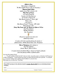 Bulletin Invite Ray Ordination and Mass of Thanksgiving