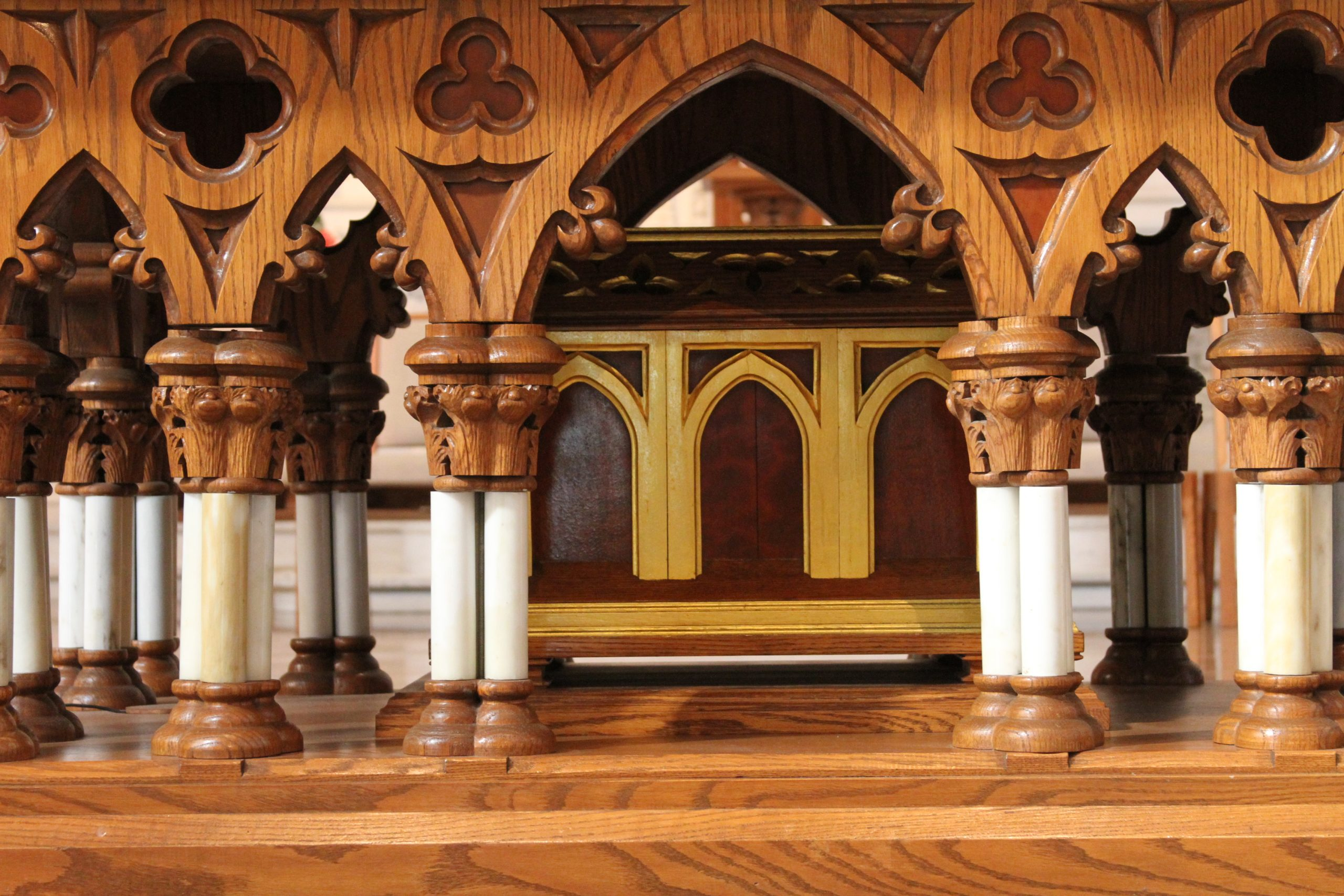 reliquary under the altar of sacrifice