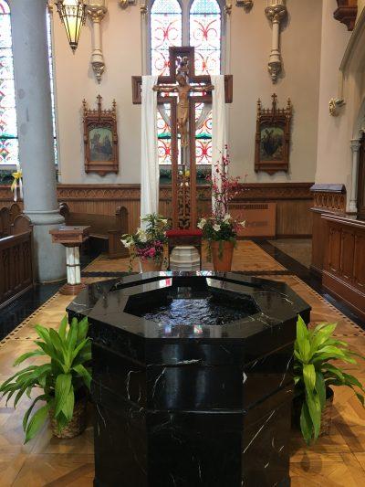 baptistry baptismal font