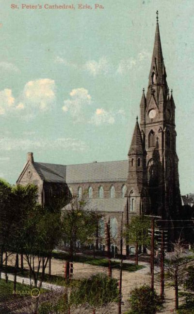 cathedral postcard before clock installed