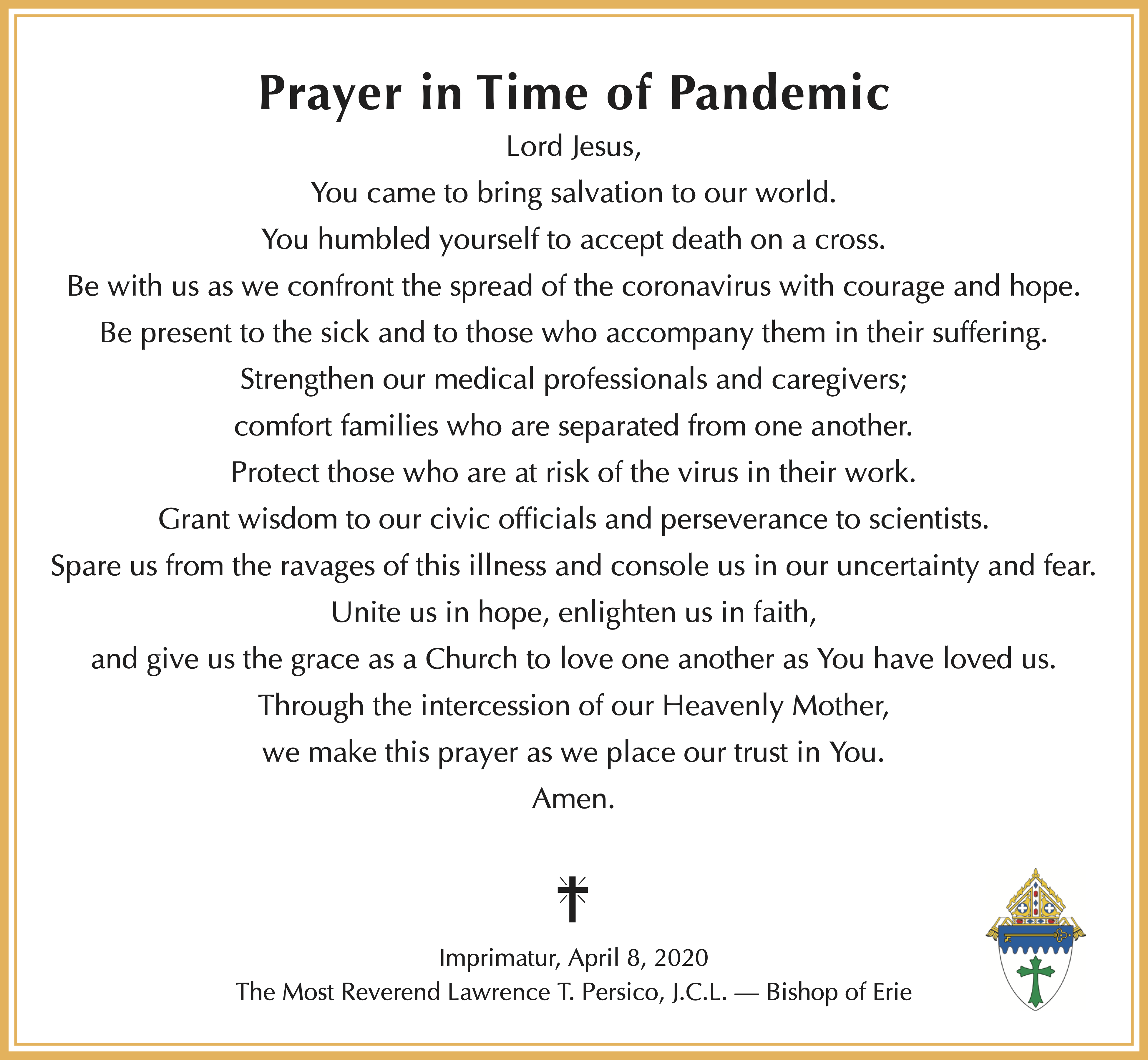 prayer in time of pandemic